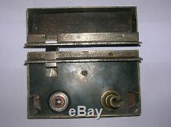 Rare ancienne serrure bronze poignée porte ancienne signée FT
