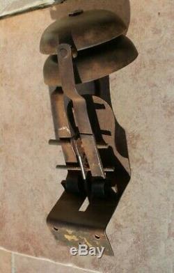 Rare ancienne sonnette mécanique de porte de boutique commerce a 2 son différent