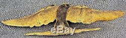 Rare fronton ornement corniche empire gros aigle en bronze 19 ème 46 cm n°1