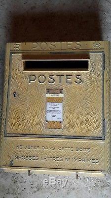 Rare grande boite aux lettres PTT LA POSTE 1960 dejoie deco loft industriel