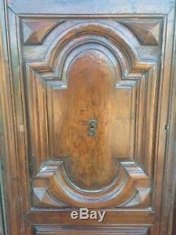 Rare grande porte d'entrée Époque Louis XIV 17-18° XVIIIe Chêne massif mouluré