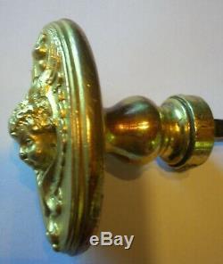 Rare poignée porte fenetre serrure bronze dore quincaillerie chateau maison ST