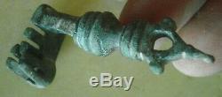 Rarissime Grosse clef ancienne. BRONZE 6 cms key Großer Schlüssel