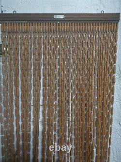 Rideaux de porte provençal en perle olive de buis, Toulon