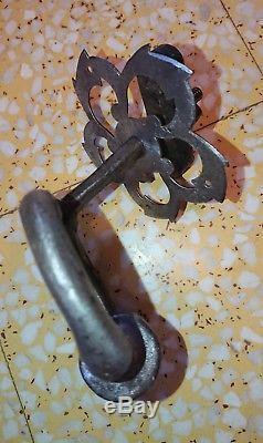 SUPERBE HEURTOIR ANCIEN EN FER FORGÉ larg 11 cm