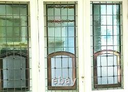 Séparation de trois portes en vitraux Art Déco XX siècle