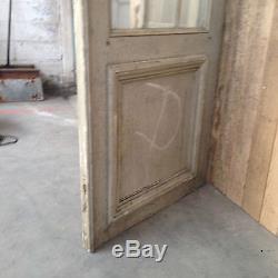 Séparation quatre portes à petit carreaux sapin patinée deux ouvrant. XIX siècle