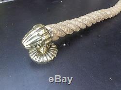 Série de 4 anciens anneaux de corde de rampe d' escaler et ses 2 embouts