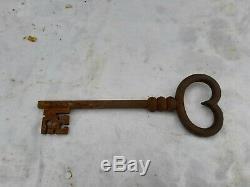 Serrure Ancienne avec sa clef Fer