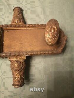 Serrure ancienne En Bronze Fabrication Hel. Fontaine Paris