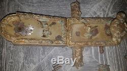 Serrure ancienne bronze ciselé et doré époque Louis XVI château