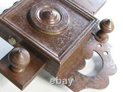 Serrure ancienne fer XIXe avec clef fonctionne porte serrurerie château