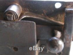 Serrure ancienne fer forgé XVIIIe avec clef fonctionne porte serrurerie château