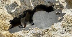Serrure ciselée ancienne Coffre fort Door Lock No Key Schlüssel nuremberg