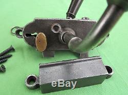 Serrure clef style Gollot 2 béquilles corne porte magasin bar droite carré de 8