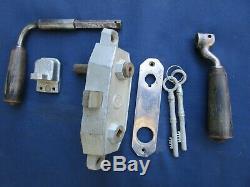 Serrure complète 2 clefs Gollot béquilles Porte gauche devanture magasin ancien