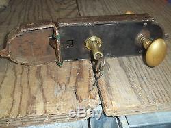 Serrure de portes de château en acier et bronze, CASTLE DOOR