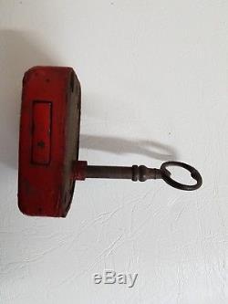 Serrure et clé d'origine pour boite aux lettres ptt mougeotte delachanal 1900