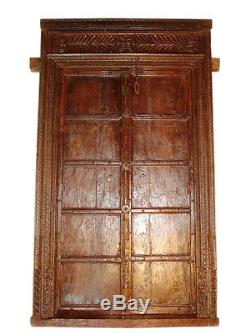 Sombre couleur miel porte antique de l'Inde à propos de 120J / Rajasthan