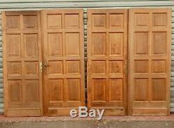 Suite de quatre portes de séparation Porte en chêne massif XX siècle