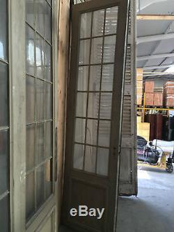 Suite de quatre portes de séparation/ Portes de passage / Portes anciennes