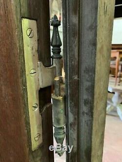 Suite de quatre portes de séparation en chêne massif Petit carreaux au plomb