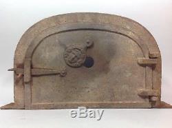 Superbe ancienne PORTE Four à pain pizza Fonte Art Populaire XIXe 19° siècle
