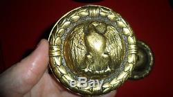 Superbe et ancienne poignée bronze aigle empire porte serrure déco château