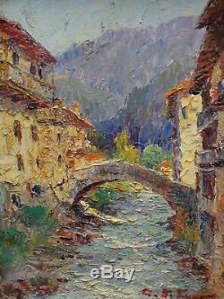 Tableau Signe Montagne Painting Peinture Pyrenees Savoie Alpes Italy Basque Pau