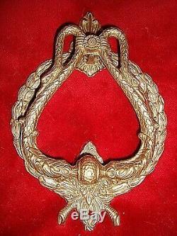 Tres Ancien Et Gros Heurtoir De Porte Tete De Cygne Style Empire