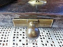 Très grosse ancienne serrure-porte entrée de chateau avec clé et clanche XIX ème