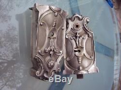 Très jolie serrure en bronze argenté 19 ème